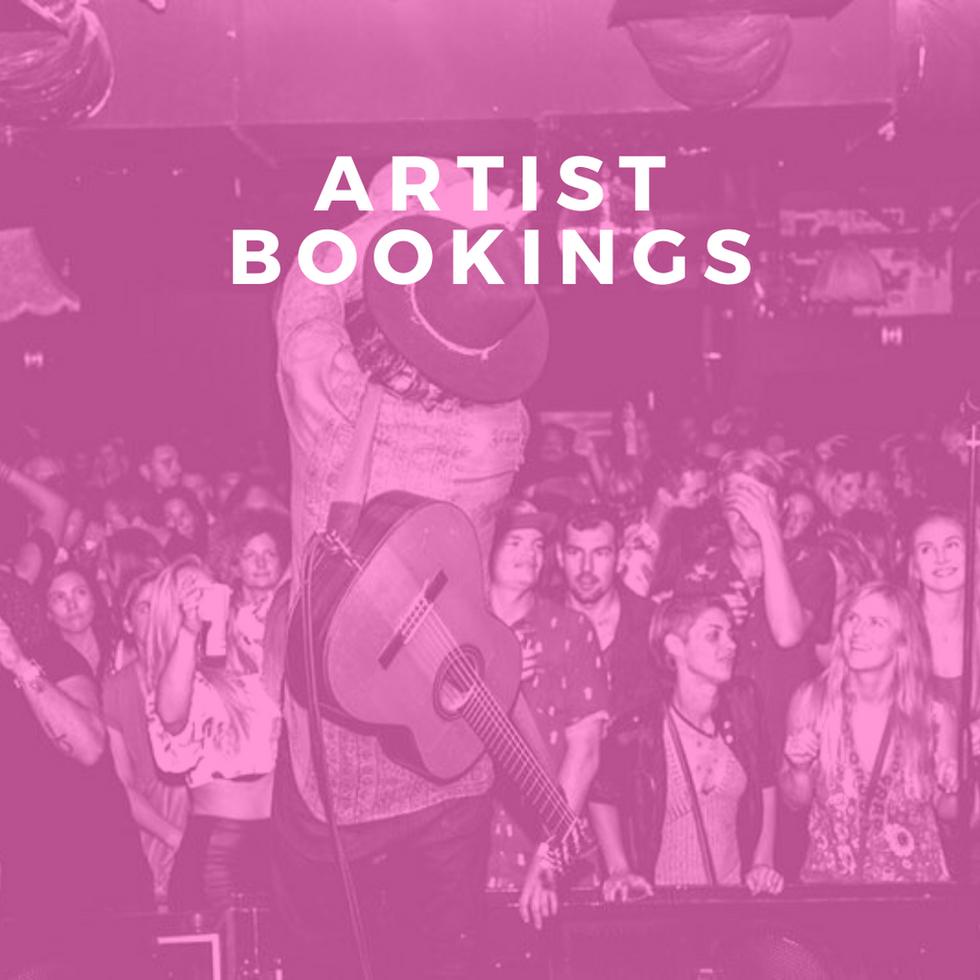 Artist Bookings
