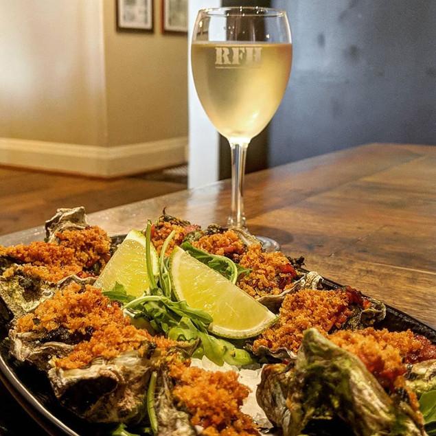 Oysters with local wines