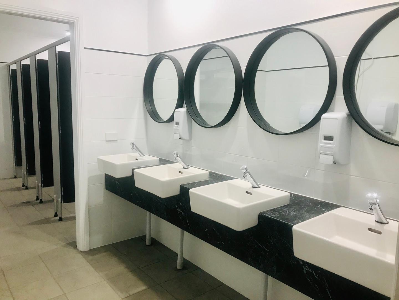 Modern bathroom facilities