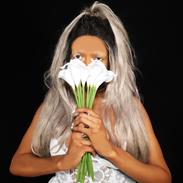 Hidden behind flowers