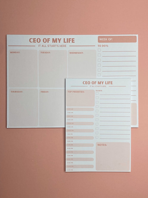 CEO OF MY LIFE | Planner Set