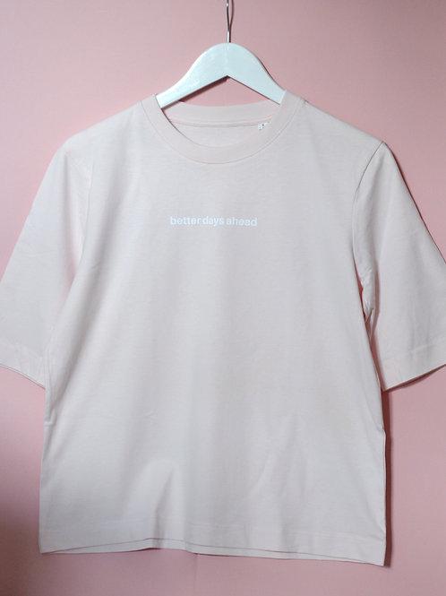 Candy Pink Better Days Crewneck T-Shirt
