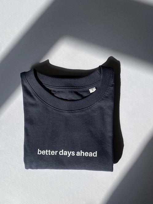 Ink Grey Better Days Crewneck T-Shirt