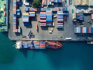 Top View container ship CISL