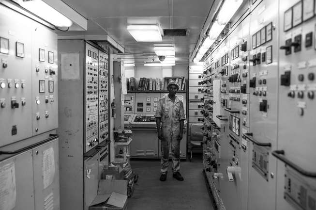 Engine room ship CISL