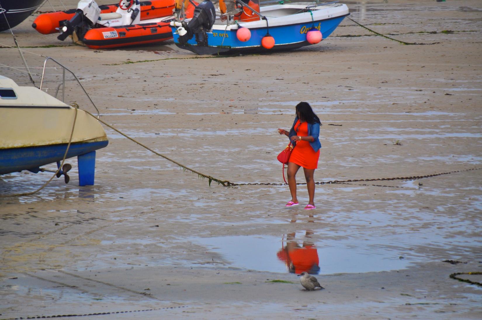 Frau im Spiegel | Cornwall