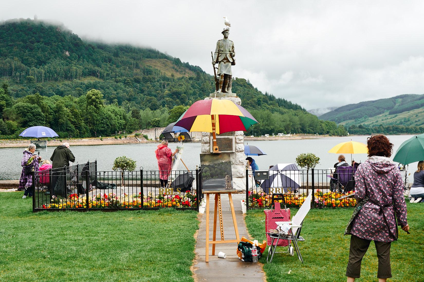 Staffelei mit Schirm | Schottland