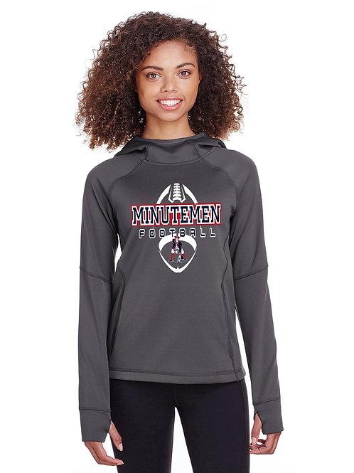 Washington TWP Minutemen Football Ladies Spyder Hooded Sweatshirt