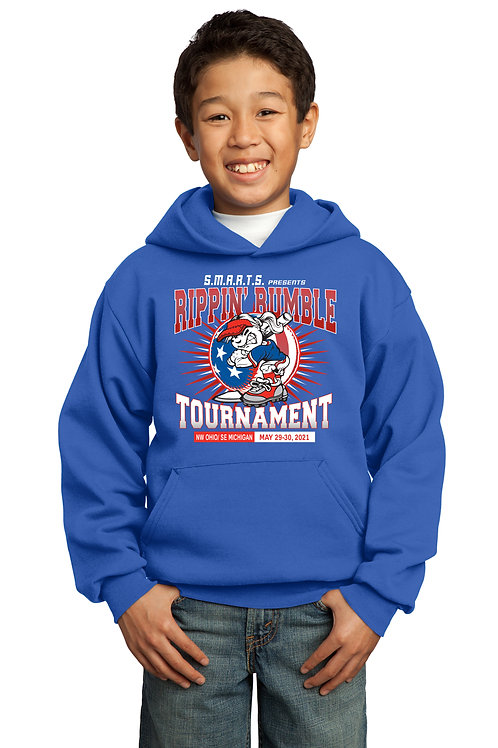 Rippin' Rumble Baseball 50/50 Cotton/PolyesterBlend Hoodie
