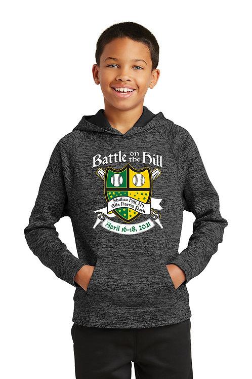 Battle on the Hill Baseball Electric Heather  Hooded Sweatshirt