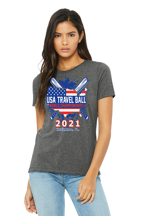 USA Travel Ball World Championships Ladies' T-shirt
