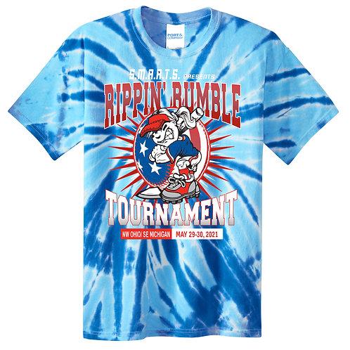 Rippin' Rumble Softball Tie-Dye T-shirt