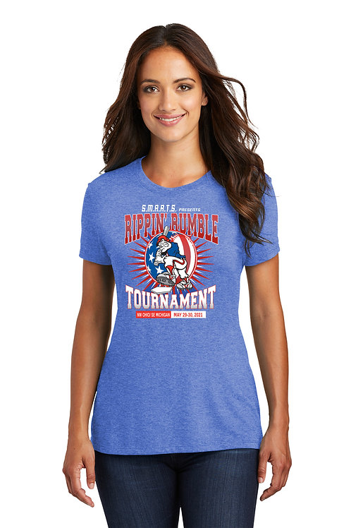 Rippin' Rumble Baseball Women's Tri Blend Tee