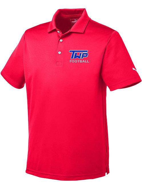 Washington TWP Football Men's Puma Embroidered Golf Shirt