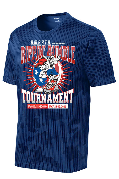 Rippin' Rumble Softball CamoHex T-Shirt