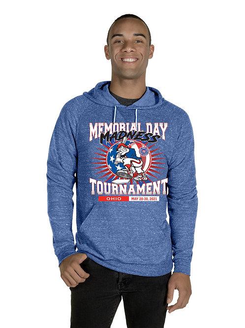 Memorial Day Madness Adult Raglan Hooded Sweatshirt