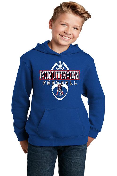 Washington TWP Minutemen Football Kids Sport-Tek Hooded Sweatshirt