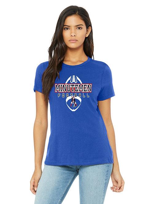 Washington TWP Minutemen Football Bella/Canvas Ladies Relaxed Jersey T-Shirt