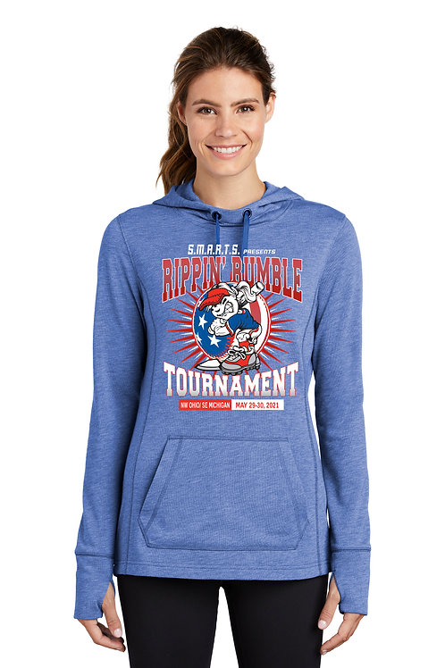 Rippin' Rumble Softball Tri-Blend Wicking Fleece Hooded Pullover