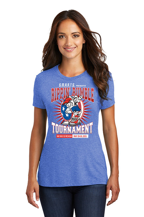 Rippin' Rumble Softball Women's Tri Blend Tee
