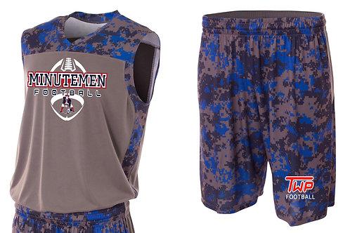 Washington TWP Minutemen Football Camo Performance Muscle Shirt & Shorts Set