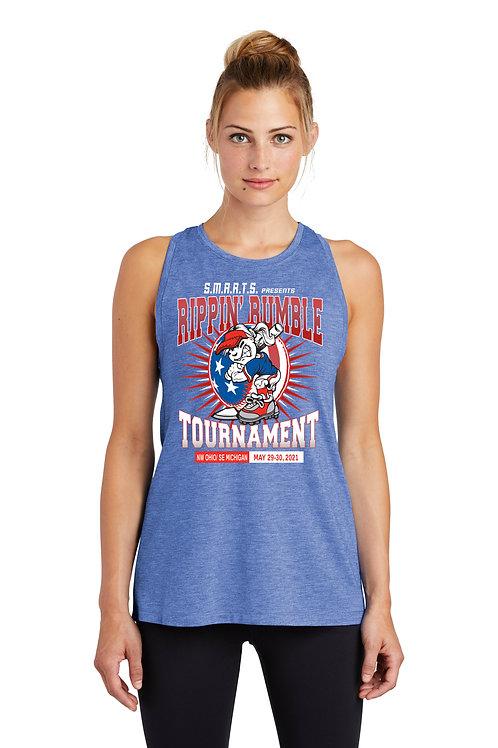 Rippin' Rumble Softball Ladies Tri-Blend Wicking Tank