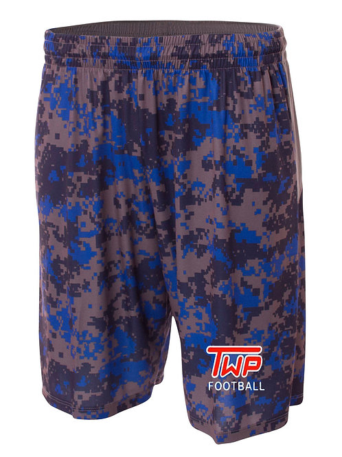 Washington TWP Minutemen Football Camo Performance Shorts