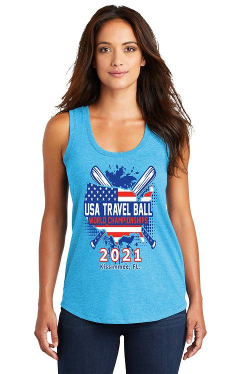 USA Travel Ball World Championships Ladies' Racerback Tank