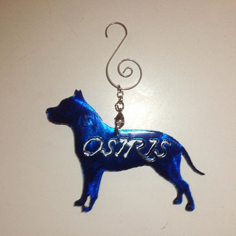 Check out these custom #pitbull Christma
