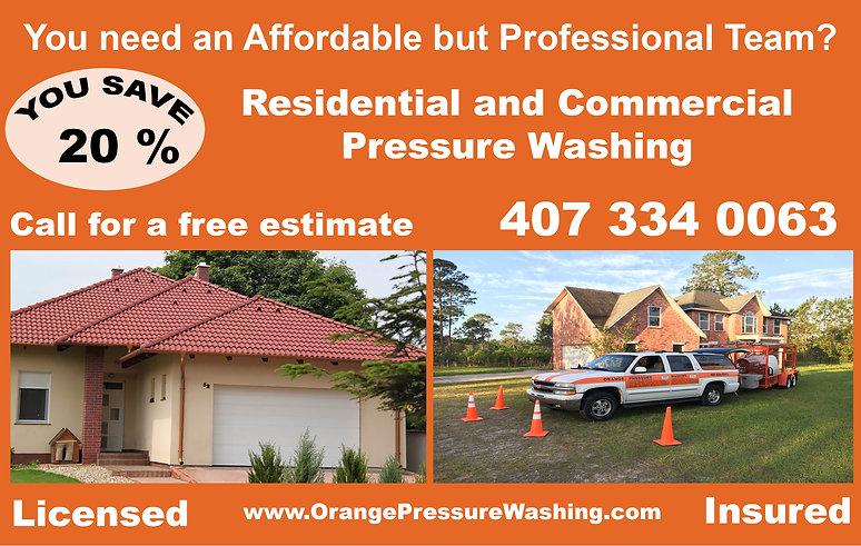 Pressure Washing Coupon in Orlando Florida