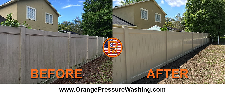 Plastic Fence Cleaning Low Pressure Orlando 407 334 0063