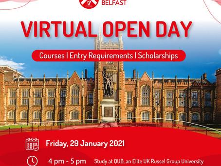貝爾法斯特女王大學『線上參觀日』