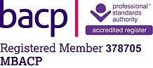BACP Logo - Registration number 378705