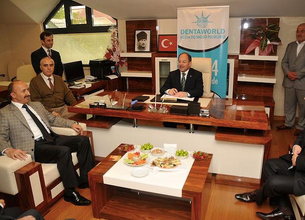 health minister recep akdağ at dentaworld dental hospital