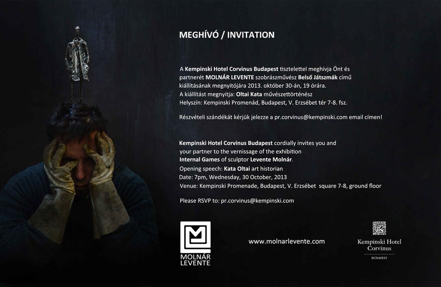 OCTOBER 2013 / KEMPISNKI ART SOIRÉE, LEVENTE MOLNÁR: INTERNAL GAMES