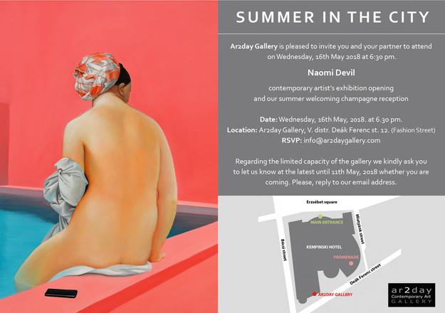 MAY 2018 / AR2DAY GALLERY EXHIBITION, NAOMI DEVIL: SUMMER IN THE CITY
