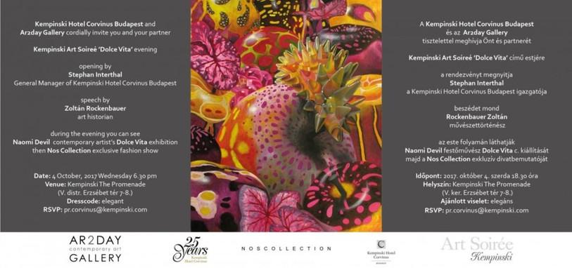OCTOBER 2017 / KEMPINSKI ART SOIRÉE, NAOMI DEVIL: DOLCE VITA