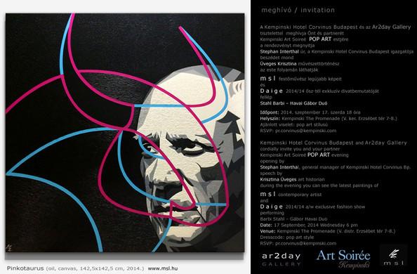 SEPTEMBER 2014 / KEMPINSKI ART SOIRÉE: MSL - POP ART