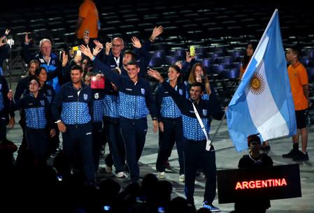 Gran fiesta inaugural de los Juegos Panamericanos con Walter Pérez como abanderado