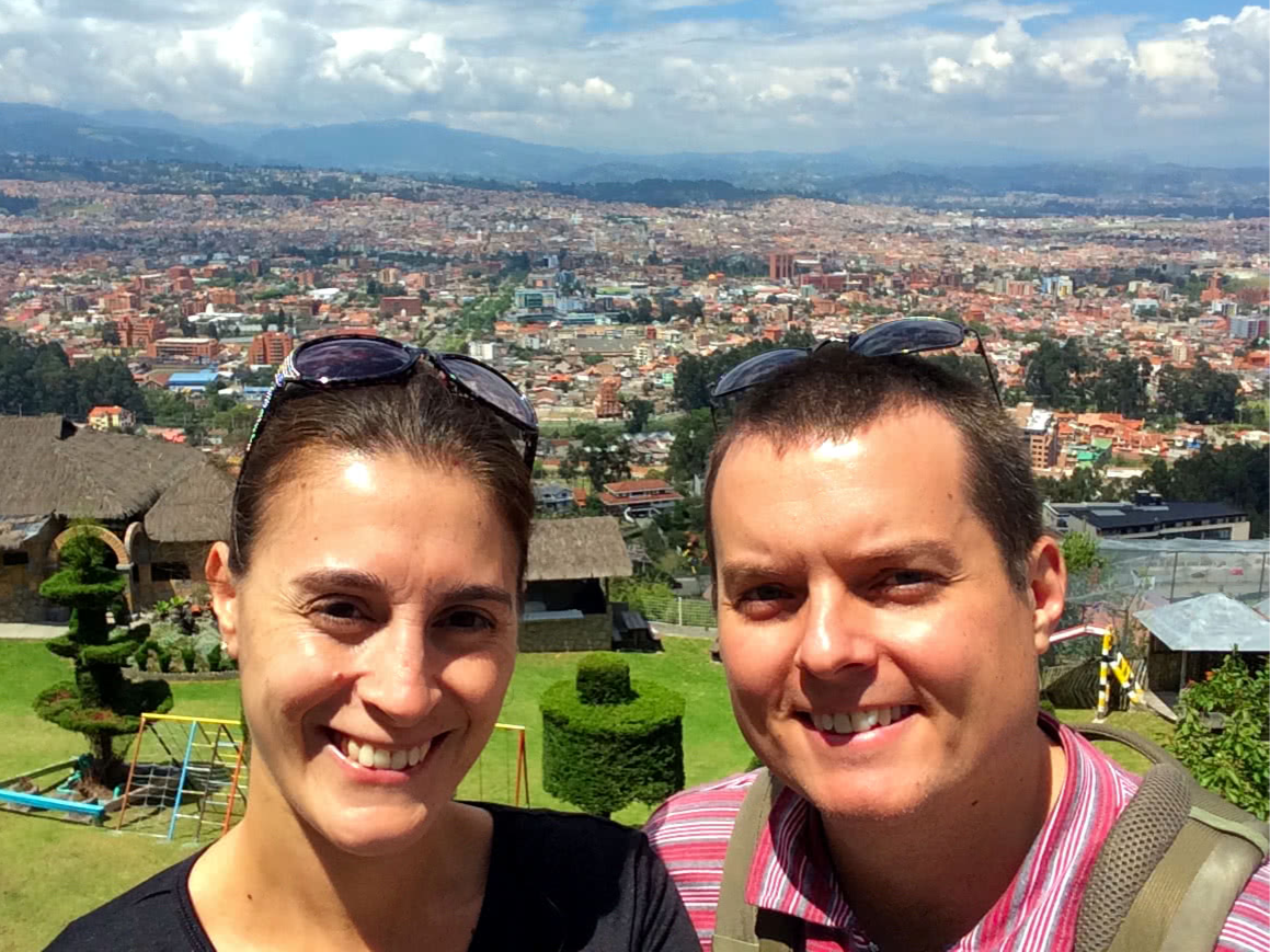 Enjoying the view of Cuenca