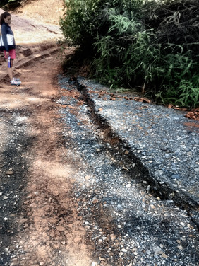 the crack in the road growing
