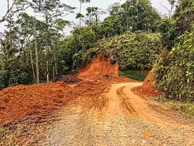 progress on clearing the landslide
