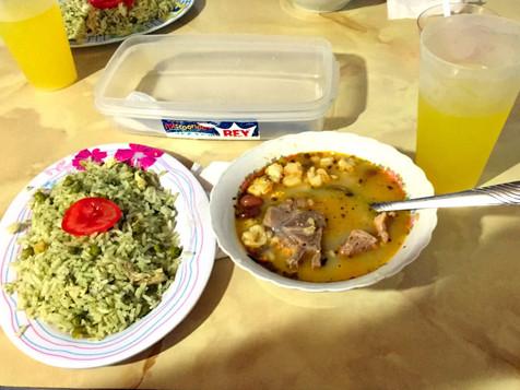 Rice and pork soup