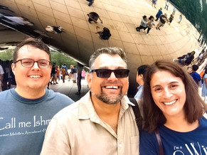 Standing at the Bean with Professor Core