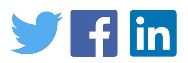 Twitter, Facebook & LinkedIn