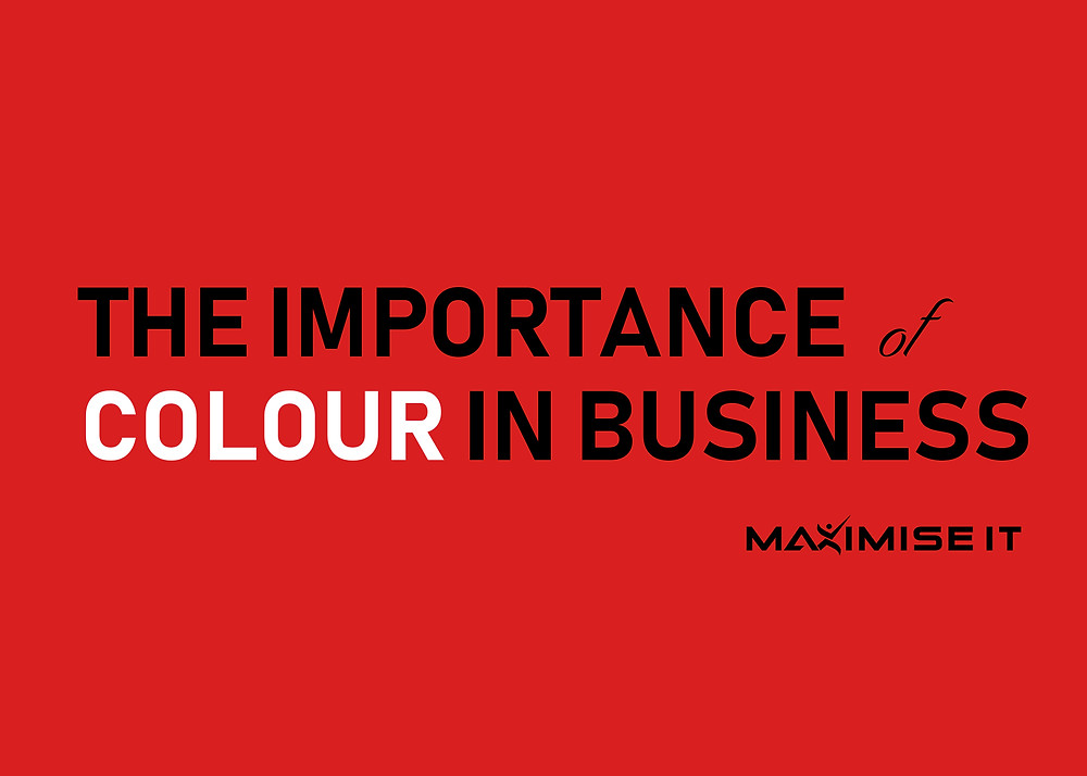 Maximise IT colour in business banner