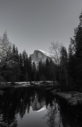 Half Dome and the Lake