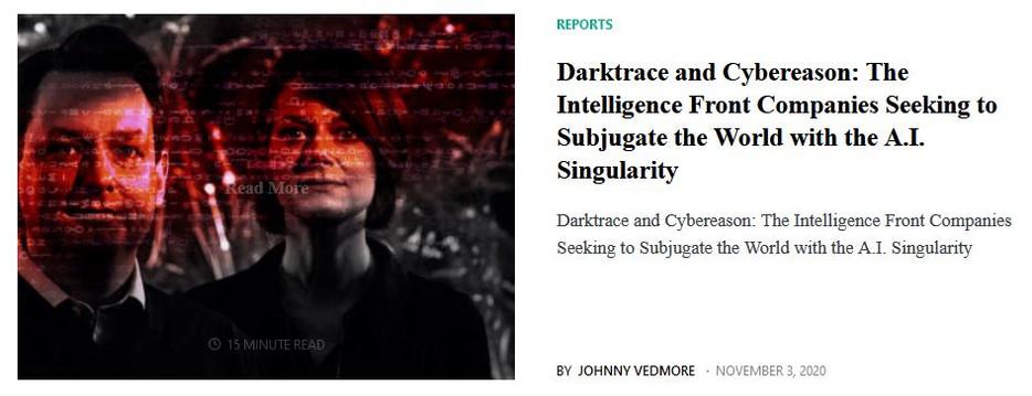 Darktrace and Cybereason Headline Link.J