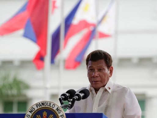Presidente de Filipinas advirtió que quien no se vacune, irá a la cárcel