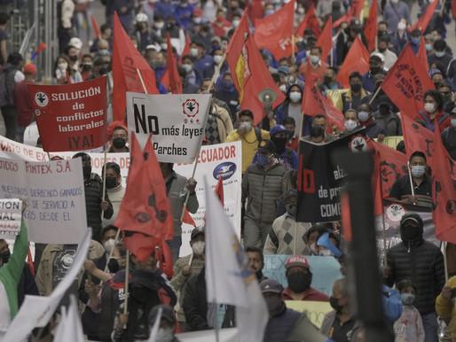 Ecuador vive una segunda jornada de movilización sindical nacional contra el Gobierno